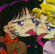 Usagi and Rei acting immature.
